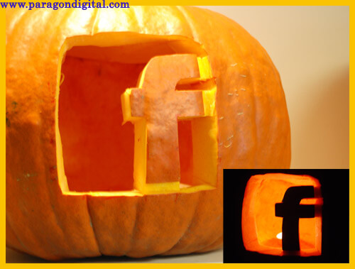 Facebook Icon Pumpkin carved by Paragon