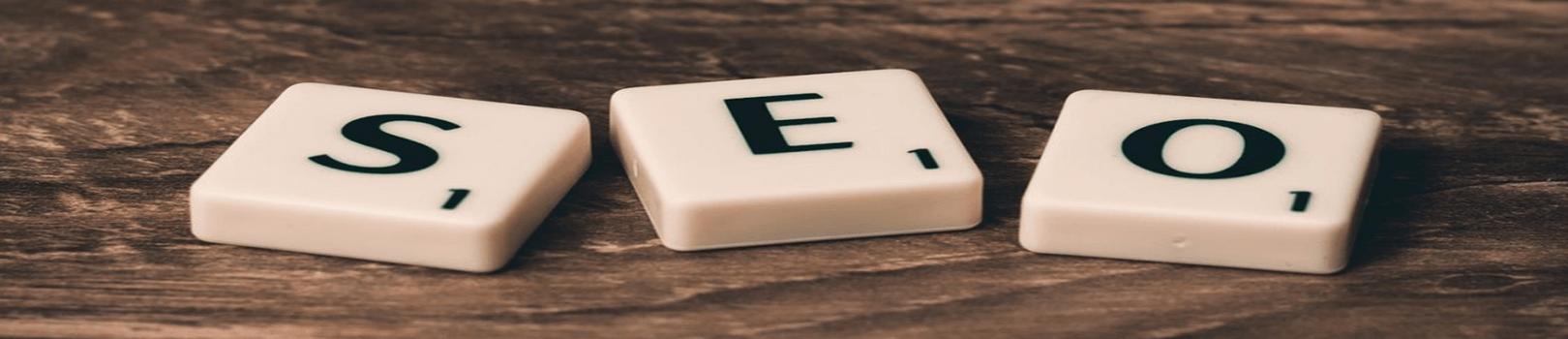 scrabble tiles that spell SEO