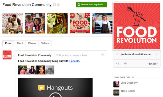 Best Brand with a Cause on Google+