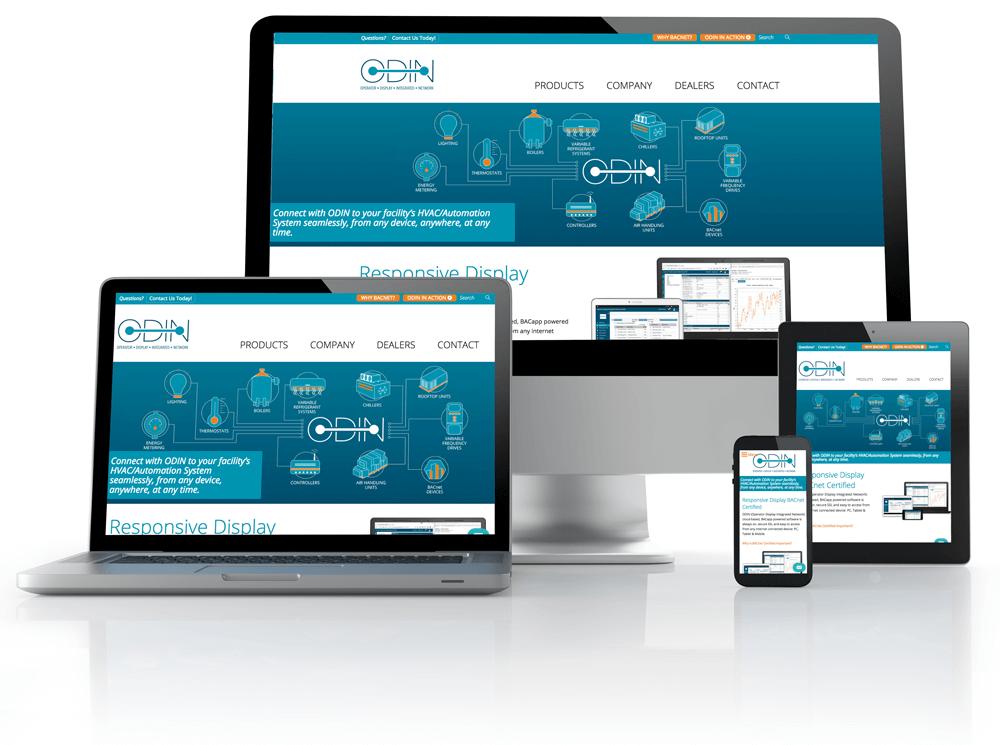 ODIN website on laptop, desktop and phone