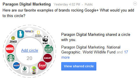 Rocking the Plus Shared Circle on Google+