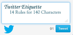 Twitter Etiquette and Tips