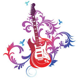 Social media rockstar guitar