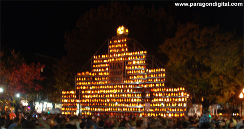 The Keene Pumpkin Festival - Pumpkin Tower at Night