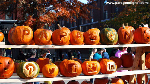 Paragon Pumpkins with Social Media Icon Pumpkins